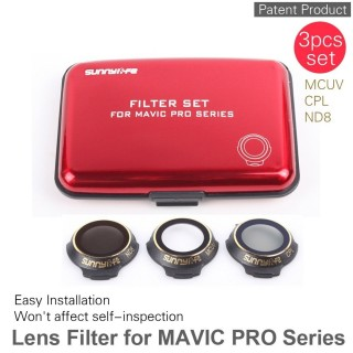 DJI MAVIC Pro filter 3 COMPLETE SET SERIES ( CPL,MCUV,ND8 )