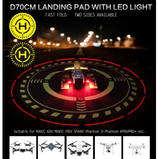 DJI MAVIC / INSPIRE / PHANTOM 3 / 4 LANDING PAD D70 CM WITH LIGHTING