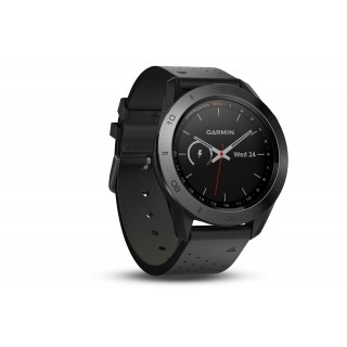 Garmin Approach S60 - Premium Watch with Black Leather Band