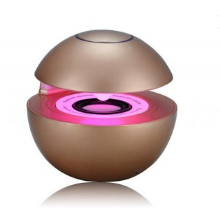 SPEAKER BLUETOOTH BT-218 DISCO LIGHT GOLD