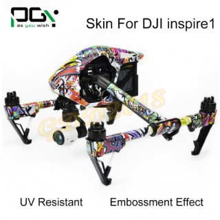 DJI INSPIRE 1 STICKERS SKIN GRAPHIC COVER SET