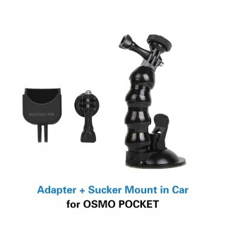 Dji Osmo Pocket Adapter + Sucker Mount in Car
