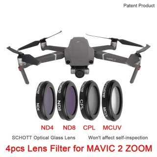 DJI Mavic 2 Zoom filter 4 pcs Lens Camera