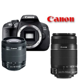 CANON EOS 700D DOBLE LENS ( 18-55MM IS II + 55-250MM IS II ) KAMERA SLR