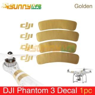 DJI PHANTOM 3 ACCESORICE GOLDEN DECAL/STICKER