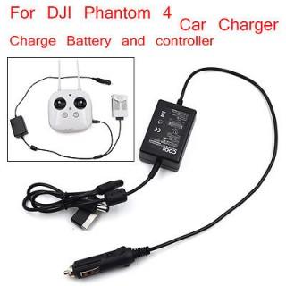 DJI PHANTOM 4 CAR CHARGER BATTERY & REMOTE