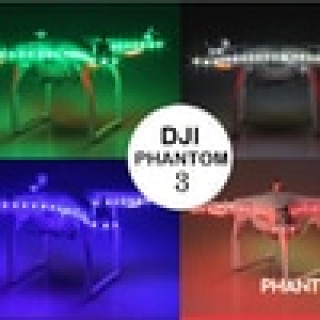 DJI PHANTOM 3 / 4 LED STRIP WITH MODUL NIGHT LIGHT