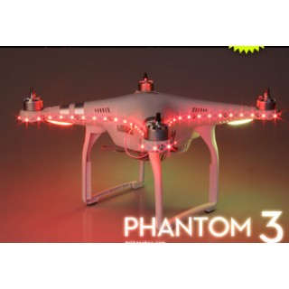 DJI PHANTOM 3/4 LED STRIP RED COLOR NIGHT LIGHT